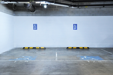Indoor parking for disabled photo
