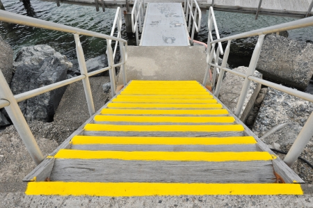 staircases: Wooden yellow staircases