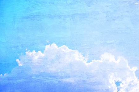 Blue sky and clouds - retro style picture Stock Photo - 20213274