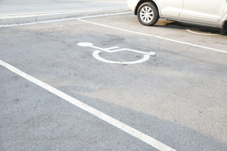 Disabled parking sign photo