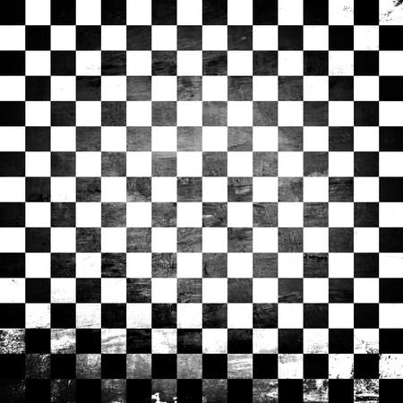 Grunge abstract black   white checkered background Stock Photo - 20645853