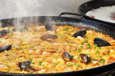 kitchen spanish: Paella - Spanish food Stock Photo