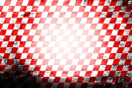lomo: Grunge abstract red & white checkered background Stock Photo