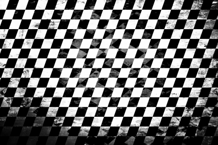 checkerboard: Grunge abstract black & white checkered background Stock Photo