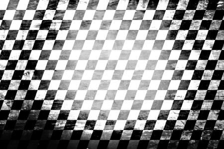 Grunge abstract black & white checkered background photo