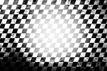 Grunge abstract black & white checkered background Stock Photo