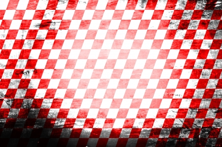 lomo: Grunge abstract red   white checkered background