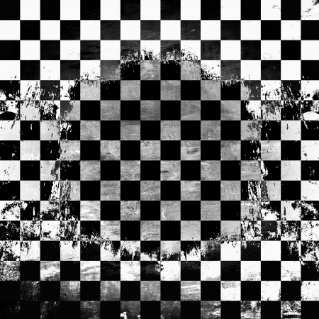 Retro style black   white checkered background