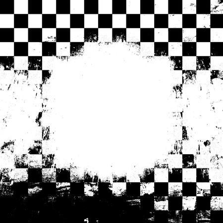 Retro style checkered background Stock Photo
