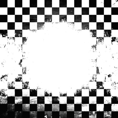 Retro style black   white checkered background Stock Photo - 21012789