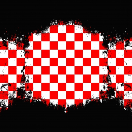 Grungy style red   white checkered background Stock Photo - 21012564