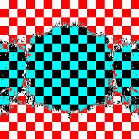 Retro style colorful  checkered background photo