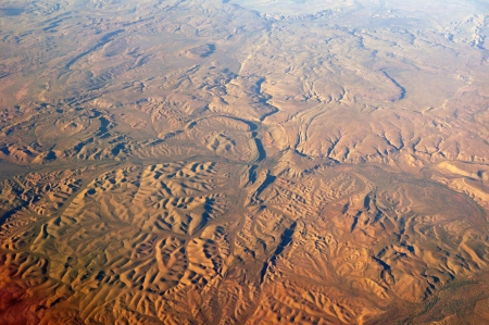 aerial animal: Aerial view of the desert