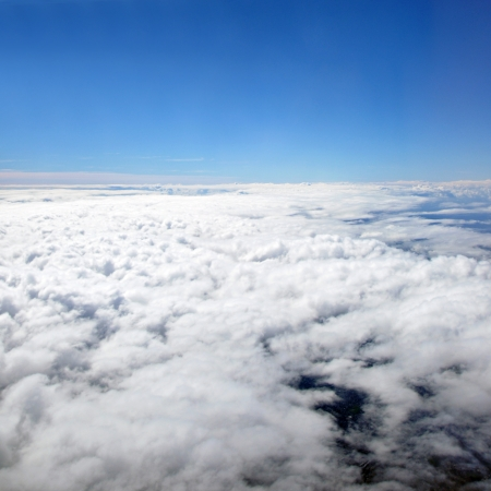 birdeye: Aerial view of clouds and blue sky