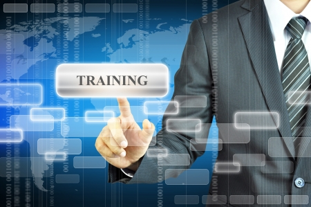 curso de capacitacion: Empresario tocar signo FORMACI�N