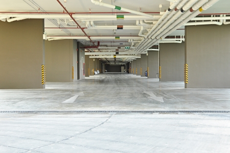 Car park under the building