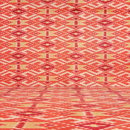 Colorful Thai silk fabric texture as background photo