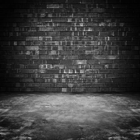 black block: Sucio viejo cuarto oscuro - fondo Foto de archivo