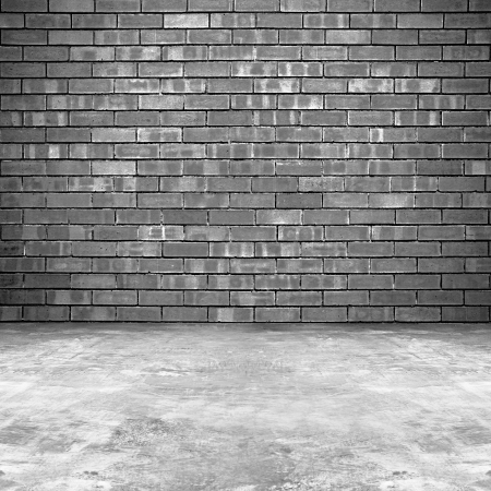concrete block: Old brick wall and concrete floor background