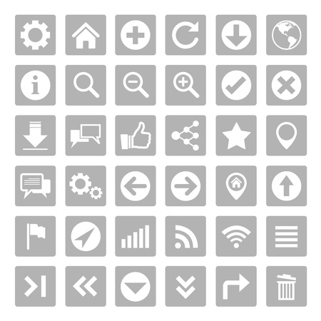 Website and internet icon set Vector