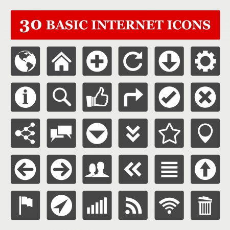 thumbsup: Basic website and internet vector icon set