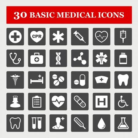 cpr: Medical vector icon set