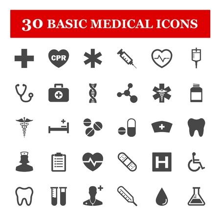 medical syringes: Medico set di icone vettoriali