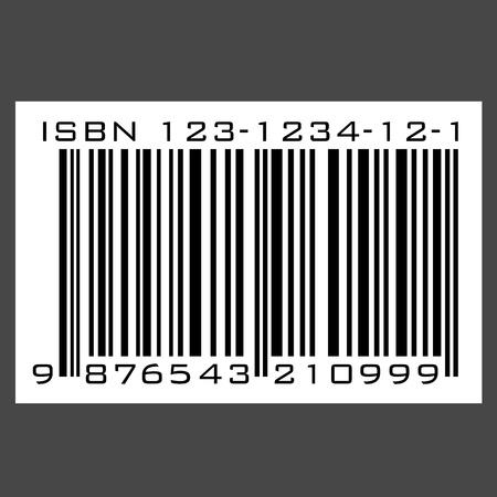 book shop: ISBN barcode - vector Illustration