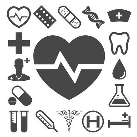 cpr: Medical vector icons Illustration