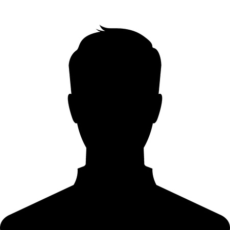 Man silhouette profile picture - vector