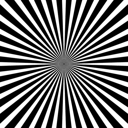radial: Black and white ray background Illustration