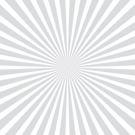 White and gray ray burst style background Illustration