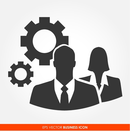 Businesspeople - vector icon Vector