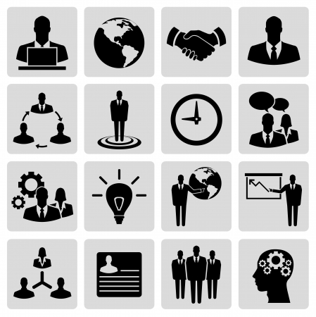 Business vector icon set Stock Vector - 21773459
