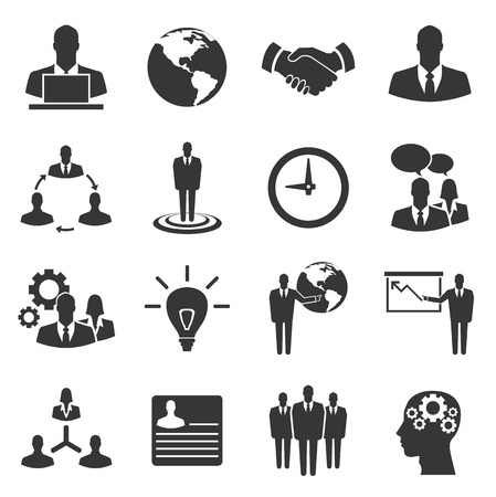 hr: Business vector icon set on white background