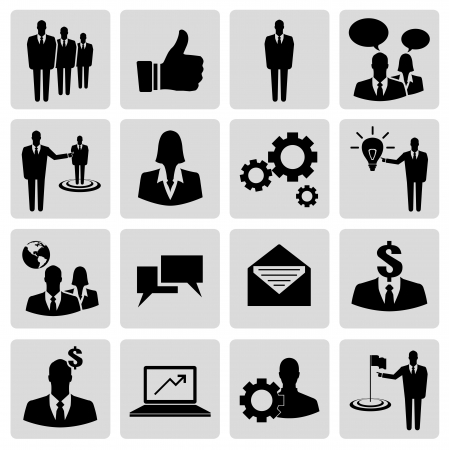 Basic business vector icon set Vector