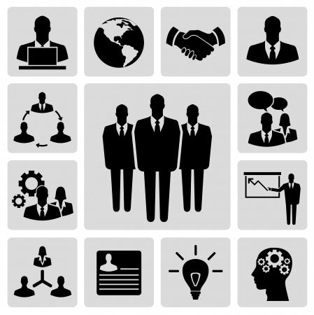 hombres de negocios: Icono del vector de negocios conjunto