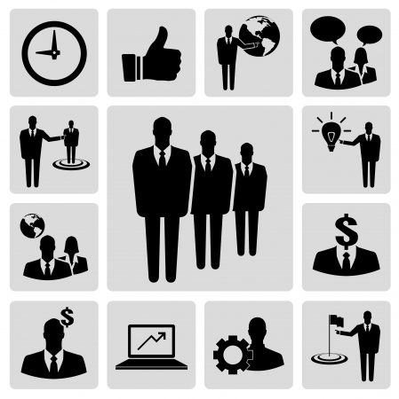 Business vector icon set Vector