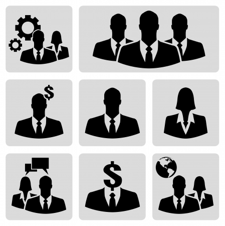 Businessman vector icon set Vector