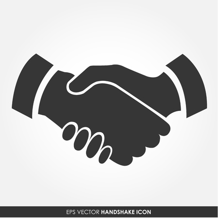 good friend: Handshake vector icon - business concept