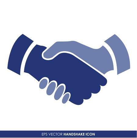 buen trato: Apretón de manos de icono de vector - concepto de negocio Vectores