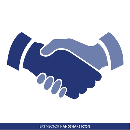 business people shaking hands: Handshake vector icon - business concept
