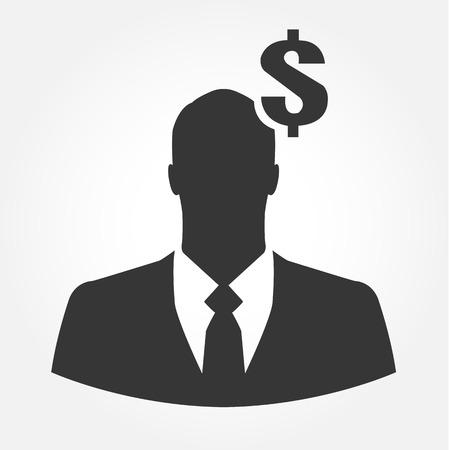 recursos financieros: Icono de negocios con el signo de dólar - concepto de negocio financiero Vectores