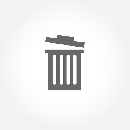 dispose: Trash bin vector icon Illustration