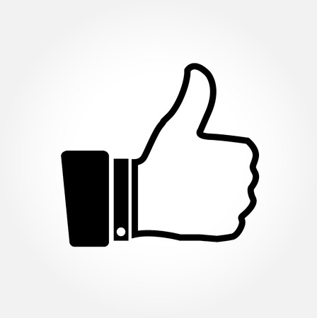 Thumbs up vector icon on white background Stock Vector - 22203633