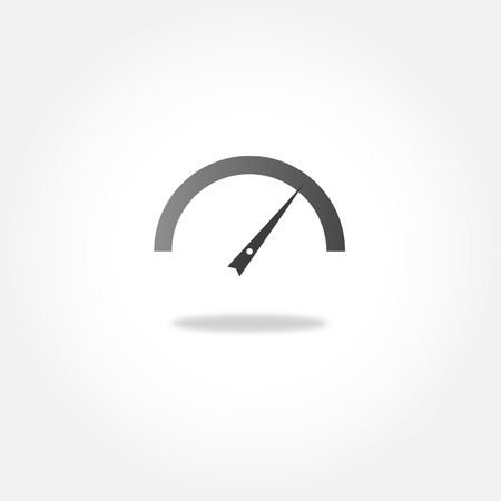 tachometer: Speedometer or tachometer - vector icon Illustration