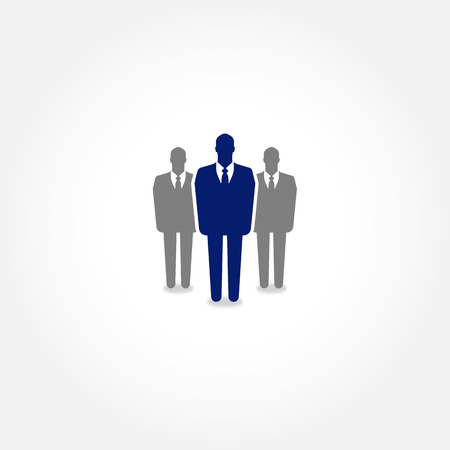 One businessman standing out from the group - HR and recruitment concept