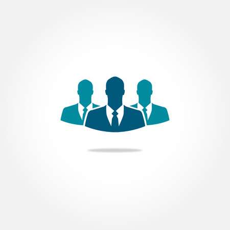 Three businessman vector icon Ilustração