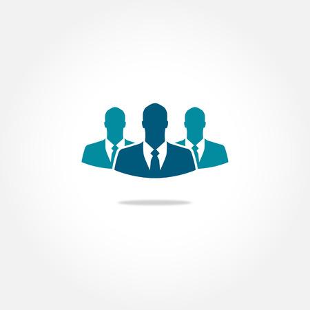 recruter: Trois ic�ne vecteur d'affaires
