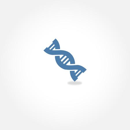 Eenvoudige vector pictogram van DNA Stock Illustratie